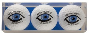 golfballen met opdruk keep your eye