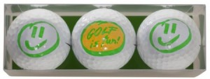golfballen met opdruk golf is fun