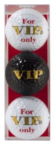 golfballen met opdruk for vip only