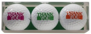golfballen met opdruk thank you