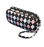 Accessory Bag, GloveIt, Pink & Grey Argyle