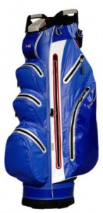 Cart bag, hard shell, water repellent, blauw