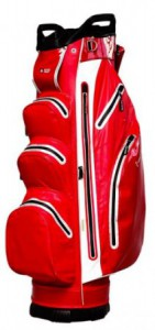 Cart bag, hard shell, water repellent, rood