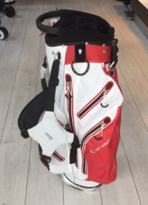 Stand bag / Hybrid carry bag, rood/wit