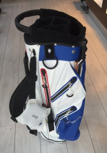 Stand bag / Hybrid carry bag, blauw/wit (verkl.)