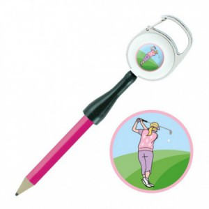 Retractable potlood - golfster